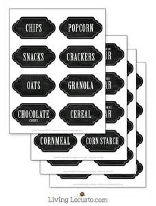 Spice Rack Stickers Kitchen Pantry Organization Makeover Free Printable Labels