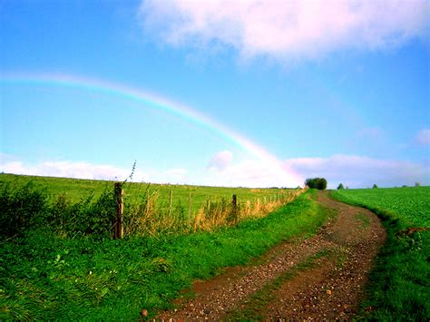 Landscape Rainbow Pictures File Landscape With Rainbow On The Road Between Heimbach