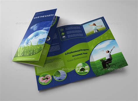 Environment Eco Tri Fold Brochure Template Vol 2 By Owpictures Graphicriver Environment Brochure Template