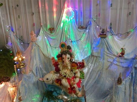ganpati decoration ideas  home ganesh pooja decoration