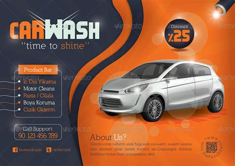 car flyer template car wash flyer template by grafilker graphicriver