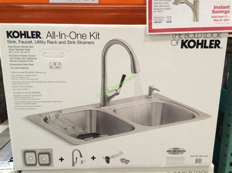 Kohler Stainless Steel Sink And Faucet Package Model
