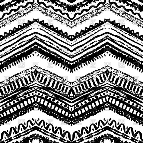 outline of zigzag pattern ethnic seamless zigzag pattern hand drawn royalty free