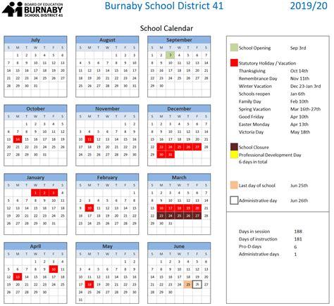 Bc Calendar Approved 3 Year Calendar 2017 18 2018 19 2019 20