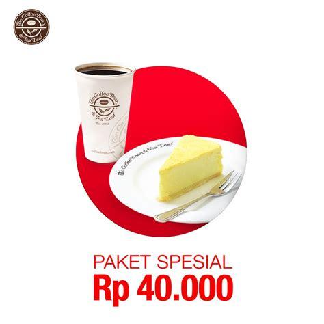 Paket Spesial 1 the coffee bean tea leaf paket spesial rp 40 000