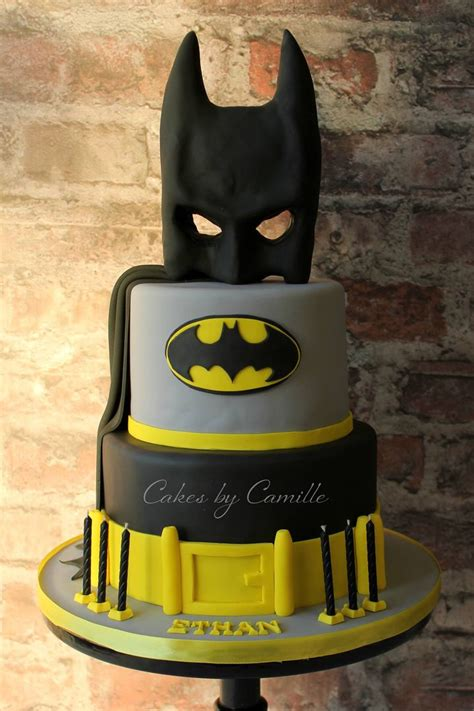 Vioreka Cape batman birthday cake with mask cape and belt for any age by cakes by camille