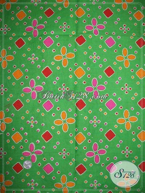 Kain Tajung Palembang Cokelat Kombinasi Hijau toko batik orang jual kain batik murah berkwalitas motif jumputan warna hijau