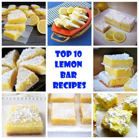 Top 10 Bars by Top 10 Lemon Bar Recipes Recipeporn