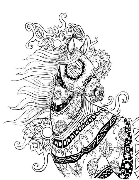 horse coloring pages for adults horse coloring page selah works adult colouring