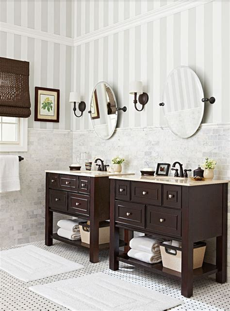 budget friendly marble and bronze bathroom traditional