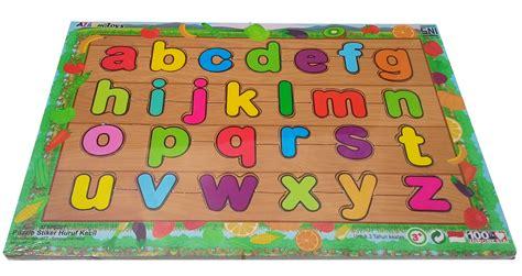 Promo Mainan Puzzle Kayu Huruf Dan Angka puzzle sticker huruf kecil mainan kayu