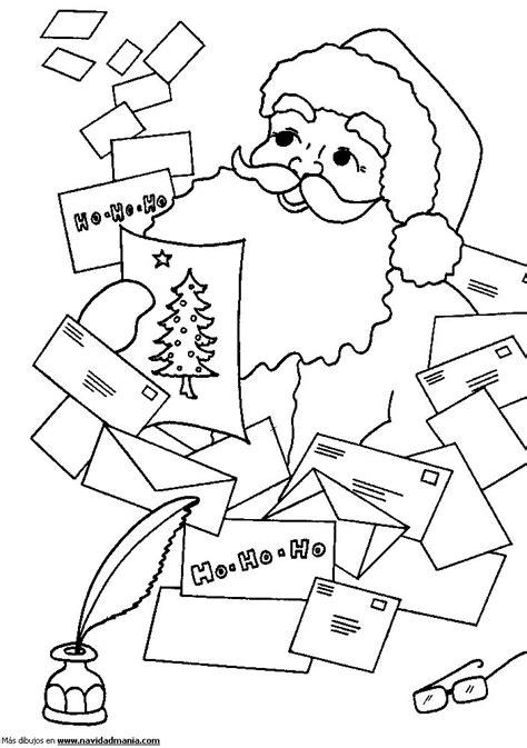 imagenes de santa claus leyendo cartas dibujo de cartas para papa noel para colorear de navidad