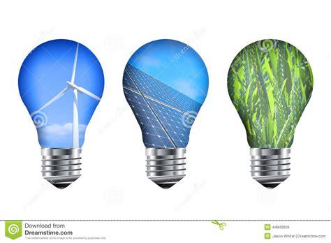 Solar Energy Light Bulbs Energy Light Bulbs Stock Illustration Image 44942659