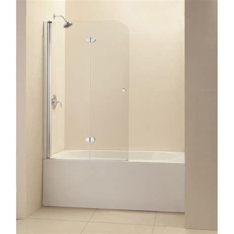 Frameless Shower Doors Reviews Dreamline Aquafold 36 Quot X 58 Quot Frameless Hinged Tub Door Reviews Wayfair