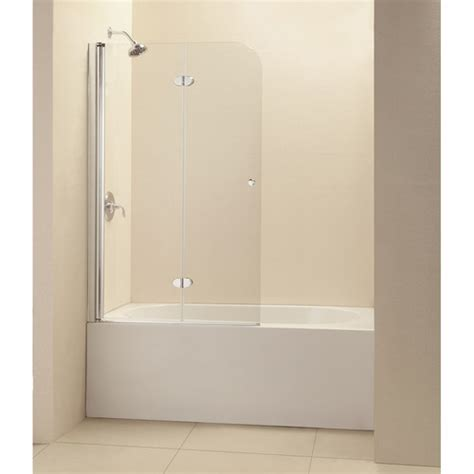 Hinged Tub Door dreamline aquafold 36 quot x 58 quot frameless hinged tub door