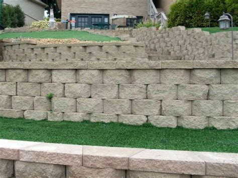 cinder block retaining wall textured finish block a