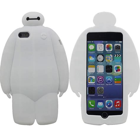 Silicon Sincan For Iphone 5 big 6 baymax silicone rubber gel cover for