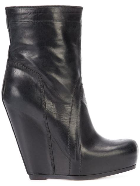 Wedges Cassico Ca 58 lyst rick owens pull on wedge boots in black