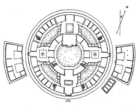 Parliament House Floor Plan 4 1 3 1 the circular radial model quadralectic architecture