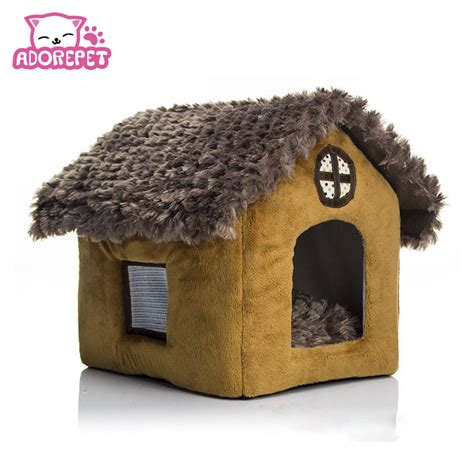 soft dog house bed printed small pet dog cat bed tent house kennels for small dog winter soft dog puppy