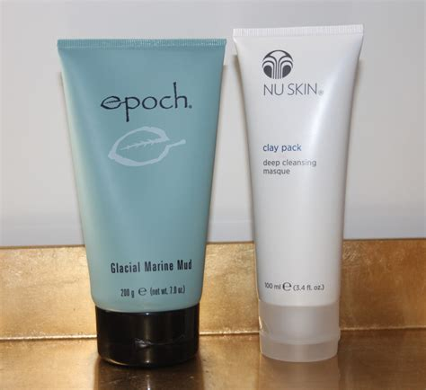 Masker Clay Pack Nu Skin review giveaway nu skin epoch glacial marine mud mask