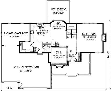 country house plans with open floor plan country house plan with open floor plan 89057ah 2nd