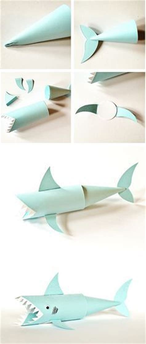 How To Make A Shark Out Of Paper - 25 best ideas about shark craft on