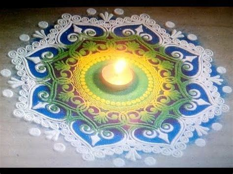 beautiful and unique multicolored rangoli design diwali beautiful multicolored rangoli creative and unique