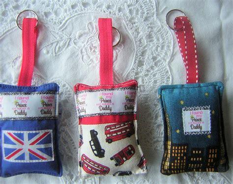 Handmade Fabric Keyrings - keyring gift fabric handmade keyring fathers day