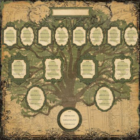scrapbook family tree template the scrappy genealogist saturday family history
