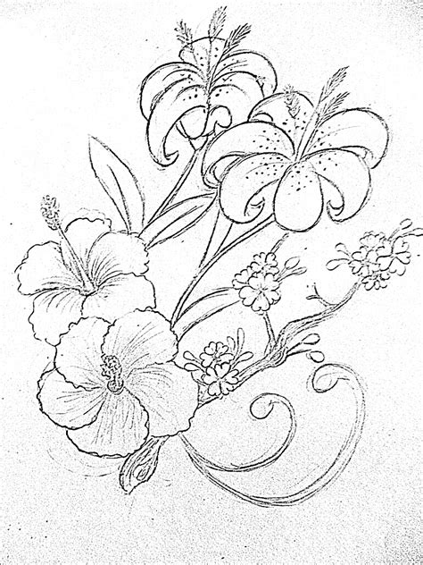 flower tattoo outline designs tropical flower design by taliachan on deviantart