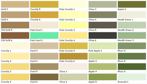 color collection sles swatches paint chips palettes
