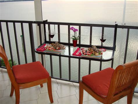 Balcony Railing Table by Terrace Table Folding Balcony Table Patio Table Railing