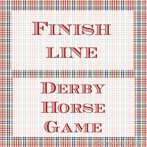 printable horse games diy horse racing game derby party game cleverly inspired