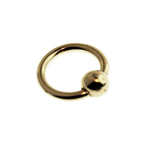 captive bead ring 14k gold captive bead ring hindged