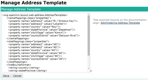 administering address templates documentation openmrs wiki