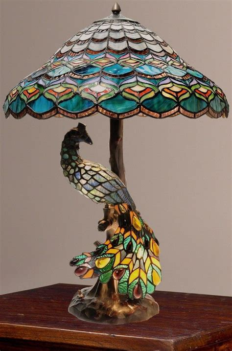 tiffany style peacock l 626 best peacock lighting images on pinterest