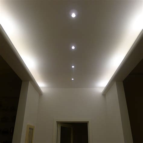 controsoffitto bagno illuminazione bagno faretti design casa creativa e