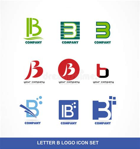 Letter B Icon Logo Set Stock Vector Image Of Letter 59823465 Vector Company Logo Element Template