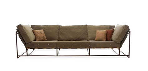 stephen kenn couch re purposed wwii military fabric for custom furniture