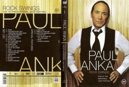 paul anka rock swings paul anka rock swings live at the montreal jazz