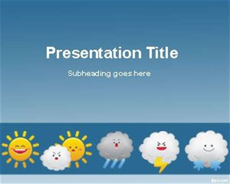 Free Weather Forecast Powerpoint Template Weather Report Template