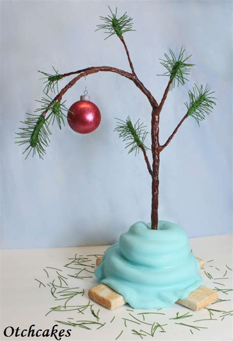 large charlie brown christmas tree brown tree cake cakecentral