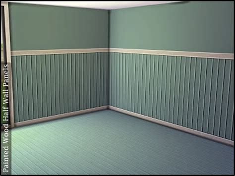 half wall wood paneling my sims 4 blog painted wood half wall panels and floors