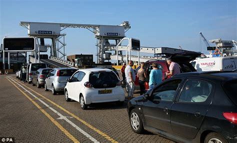 ferry thahir calais travel chaos as migrants target lorries in bid to