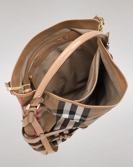 Burberry Trench Hobo Bag by Hobo Burberry Bridle House Check Gosford In Beige Trench