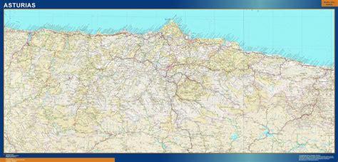 carreteras asturias tienda mapas posters pared