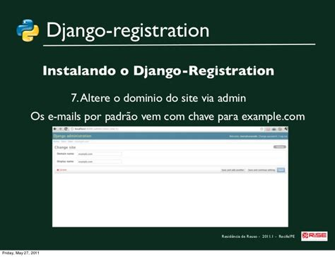 django tutorial user registration explorando django