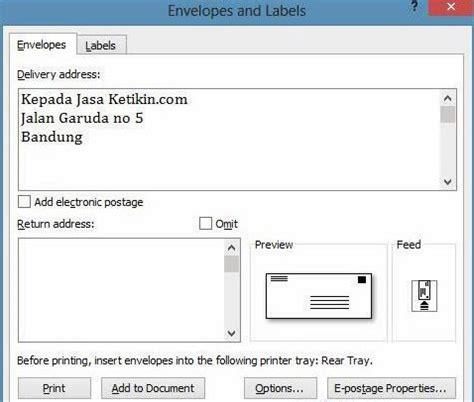 membuat option html munarti blogg cara membuat amplop surat dengan microsoft