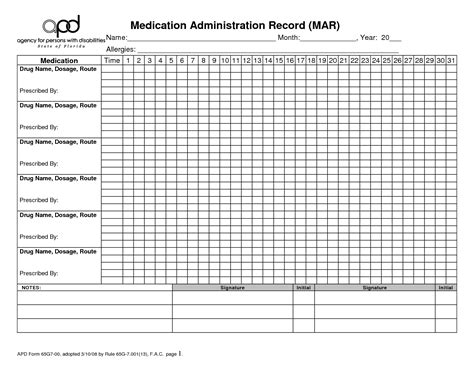 medication administration record template pdf medication administration record template pdf business template